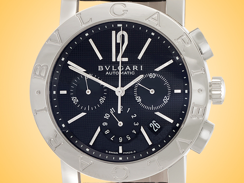 Bvlgari BB Collection Automatic Chronograph Black Dial Stainless Steel Men's Watch BB42BSLDCH