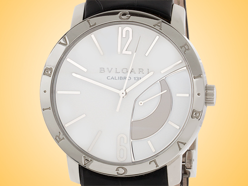 Bvlgari BVLGARI BVLGARI Collection Men's Manually Wound Stainless Steel Power Reserve Watch BB43WSL