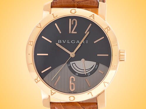 Bvlgari BVLGARI BVLGARI Collection Men's Automatic Rose Gold Anthracite Dial Power Reserve Watch BBP41BGL