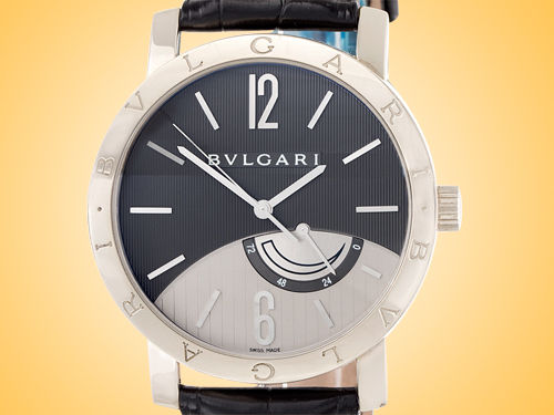 Bvlgari BVLGARI BVLGARI Collection Men's Automatic 18K White Gold Anthracite Dial Power Reserve Watch BBW41BGL
