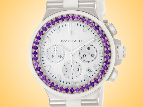Bvlgari Diagono Collection Ladies Automatic Stainless Steel Watch DG40WSAWVDCH/11