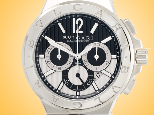 Bvlgari Diagono Automatic Chronograph Stainless Steel Men's Watch DG42BSLDCH
