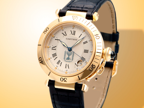Cartier Pasha de Cartier Limited Edition Israel 50th Anniversary Automatic 18K Yellow Gold Watch MG247684