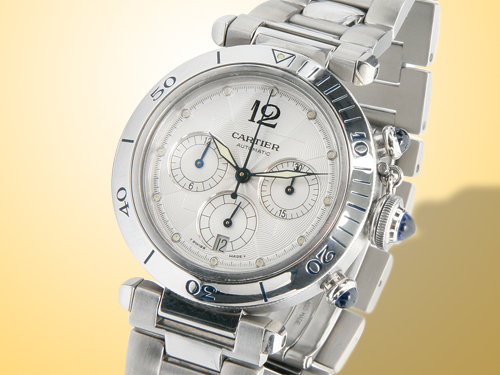 Cartier Pasha de Cartier Chronograph Stainless Steel Full Size Watch