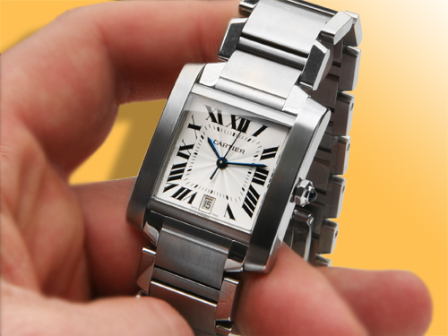 Cartier Tank Francaise Large Model Stainless Steel Watch