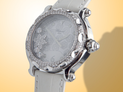 Chopard Happy Sport Snowflake Stainless Steel / Diamonds Ladies Watch 288946-2001