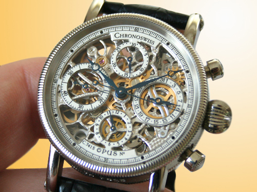Chronoswiss Opus Skeleton Automatic Chronograph Stainless Steel Watch CH 7521S
