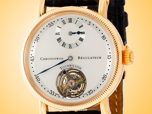 Chronoswiss Tourbillon Régulateur 18K Rose Gold Men's Watch CH-3121-R