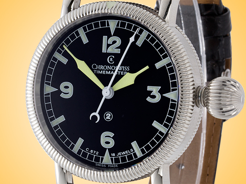 Chronoswiss Timemaster Manual Wind Stainless Steel Men's Watch CH 6233 BK