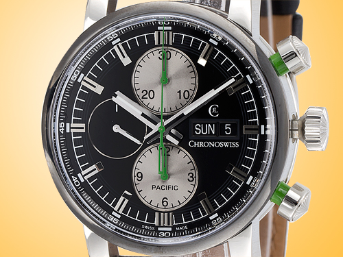 Chronoswiss Pacific Chronograph Stainless Steel Men's Watch CH 7585B-BK2