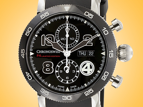 Chronoswiss Timemaster Chronograph Day Date F4 Automatic Stainless Steel Men's Watch CH 9043B-F4/71-2