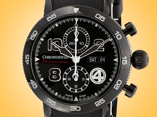Chronoswiss Timemaster Chronograph Day Date F4 Automatic Stainless Steel Men's Watch CH-9045-F4