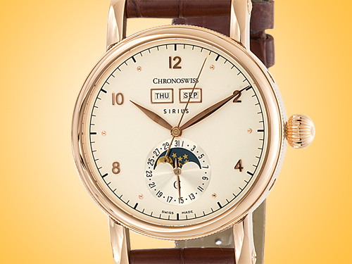 Chronoswiss Sirius Triple Date 18K Rose Gold Automatic Men's Watch CH-9341.1R/1211