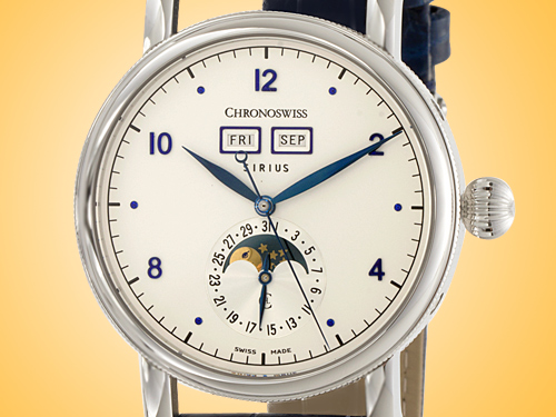 Chronoswiss Sirius Triple Date Stainless Steel Automatic Men's Watch CH-9343.1/1111