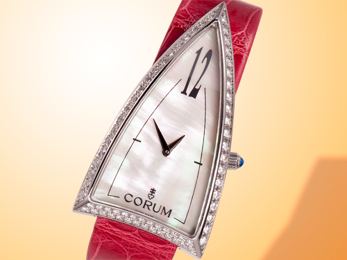 Corum Diamond Stainless Steel Rocket Ladies Watch 024-942-47/0006 PN12S