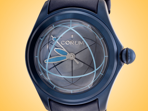 Corum Bubble Art Blue PVD-coated Stainless Steel Automatic Watch Model: 082-312-98-0063OP02S