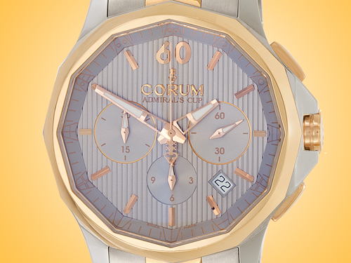 Corum Admiral's Cup Legend 42 18K Rose Gold / Stainless Steel Automatic Chronograph Men's Watch 984-101-24-V705-FH11