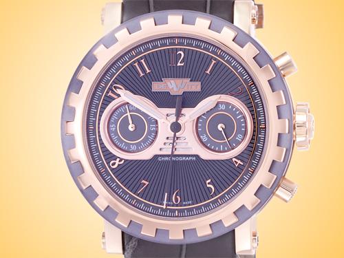 DeWitt Academia Chronostream 18K Rose Gold / Tantalum Men's Automatic Chronograph Watch AC.6005.058.M091