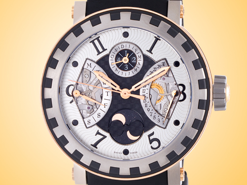 DeWitt Academia Quantieme Perpétuel Titanium / Rose Gold Men's Automatic Watch AC.7004.28A.M722