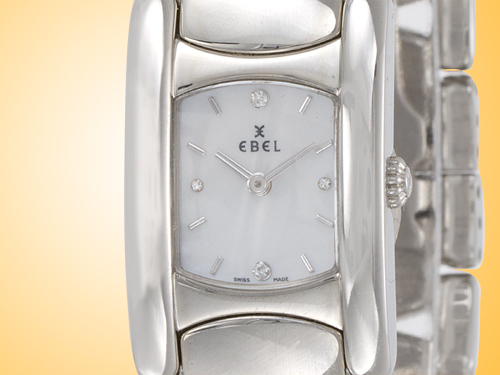 Ebel Beluga Manchette Stainless Steel Quartz Ladies Watch Model 9057A21/9850