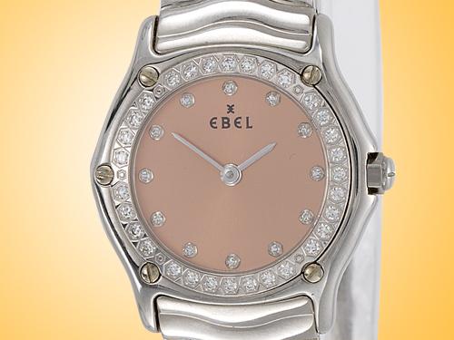 Ebel Sport Classique Wave Stainless Steel / Diamonds Quartz Ladies Watch Model 9090125/5225