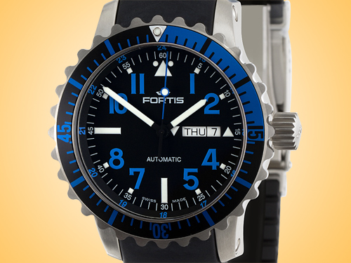 FORTIS Marinemaster Day / Date Blue Automatic Stainless Steel Men's Watch 670.15.45.K