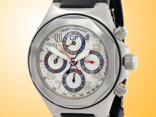 Girard Perregaux Laureato EVO3 Automatic Chronograph Stainless Steel Men's Watch 80180-11-113-FK6A