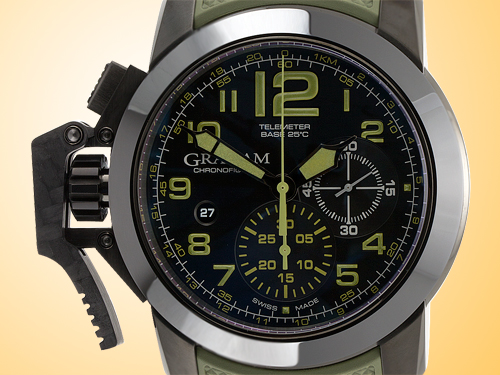 GRAHAM Chronofighter Amazonia Green Oversize Stainless Steel Men�s Watch 2CCAU.G01A.K94N