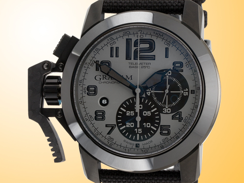 GRAHAM Chronofighter Oversize Stainless Steel PVD Men's Watch 2CCAU.S01A.T12N