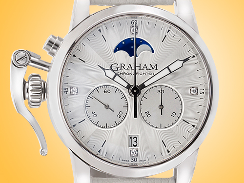 GRAHAM Chronofighter 1695 Lady Moon Ladies Stainless Steel Chronograph Watch 2CXBS.S06A.L107S