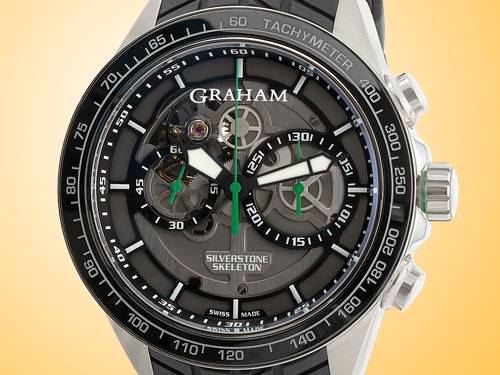 GRAHAM Silverstone RS Skeleton Chronograph Steel Men�s Watch 2STAC2.B01A.K90F