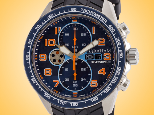 GRAHAM Silverstone RS Racing Chronograph Stainless Steel Men's Watch 2STEA.U04A.A26F