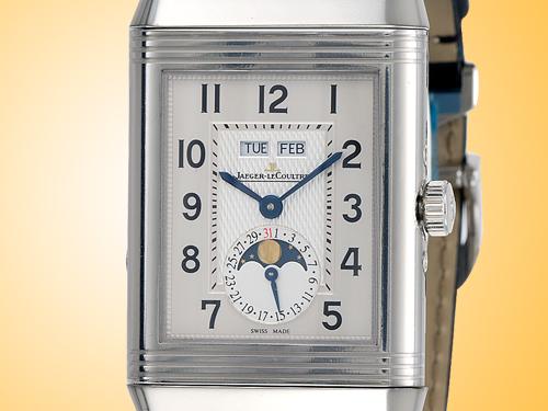 Jaeger LeCoultre Grande Reverso Calendar Stainless Steel Men's Watch Q3758420