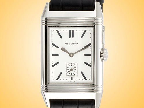Jaeger LeCoultre Grande Reverso Duo Ultra Thin Stainless Steel Men's Watch Q3788570