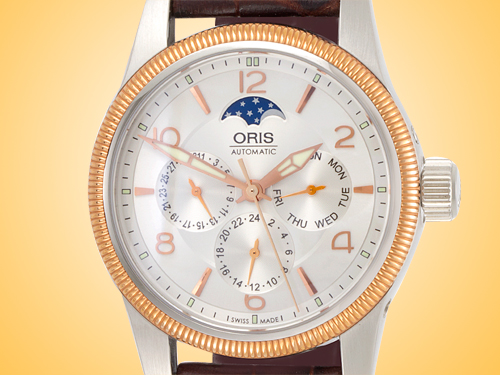 Oris Big Crown Moon Phase Men's Automatic Stainless Steel Watch 581 7627 4361LS