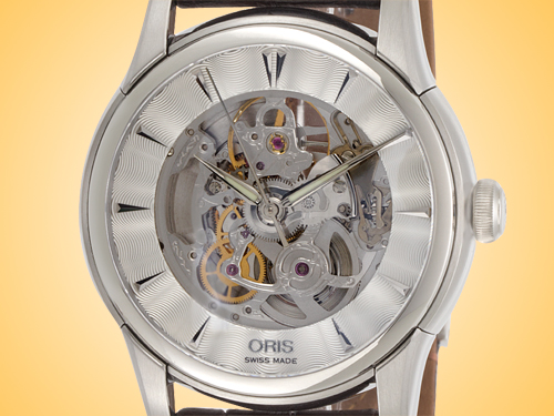 Oris Artelier Skeleton Dial Men's Stainless Steel Automatic Watch 734 7670 4051LS