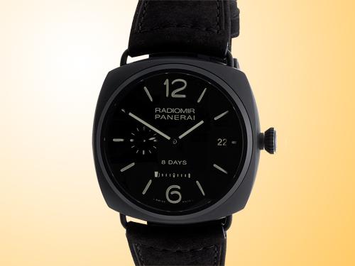 Officine Panerai Radiomir 8 Days Ceramica Men's Manually Wound Watch PAM00384