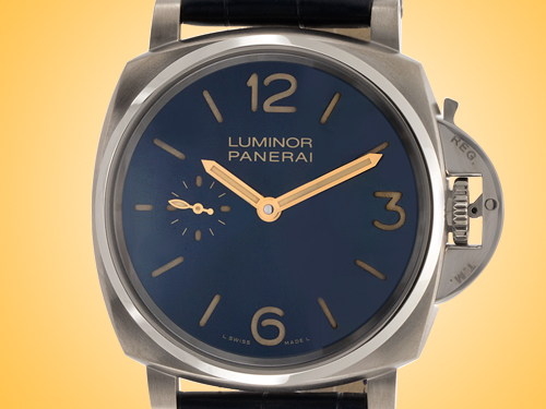 Officine Panerai Luminor Due 3 Days Titanio Men's Hand-wound Titanium Watch PAM00728