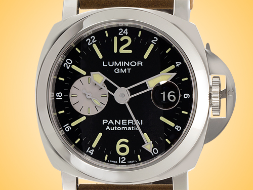 Officine Panerai Luminor GMT Automatic Acciaio Men's Stainless Steel Watch PAM01088