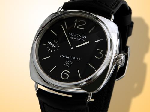 Officine Panerai Historic Collection Radiomir Black Seal Logo Stainless Steel Watch PAM00380