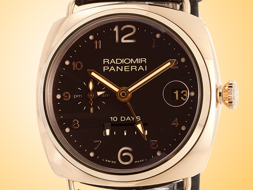Officine Panerai Radiomir 10 Days GMT Oro Rosso 18K Rose Gold Automatic Men�s Watch PAM00497