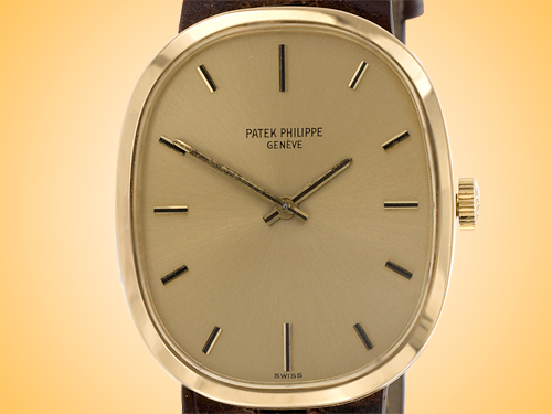 Patek Philippe Ellipse 18K Yellow Gold Unisex Manually Wound Classic Dress Watch 3548J-203 (Circa late 60's - early 70's)