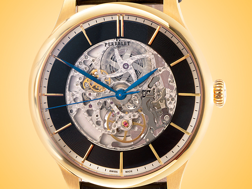 Perrelet First Class Skeleton Automatic 18K Rose Gold Men's Watch A3043/2