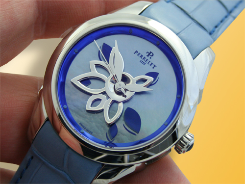 Perrelet Diamond Flower Stainless Steel Ladies Watch