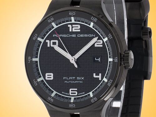 Porsche Design P�6000 Flat Six Automatic PVD Stainless Steel Men's Watch 6350.43.04.0275