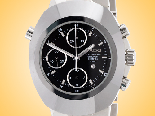 Rado Original Split Second Chronograph Men's Automatic Stainless Steel Watch R12694153