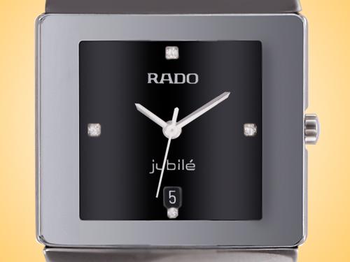 Rado Sintra Jubilé Black Diamond Dial Ceramic Ladies Watch R13332742
