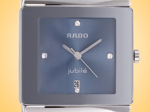 Rado Sintra Jubilé Blue Diamond Dial Ceramic Ladies Watch R13332762