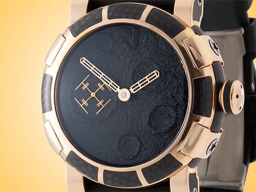 Romain Jerome 18K Rose Gold Moon Dust Red Mood Black Dial Automatic Men's Watch MB.F2.22BB.00