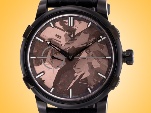Romain Jerome 1969 Black Metal Brown Silicium Automatic Stainless Steel Men's Watch RJ.M.AU.020.06